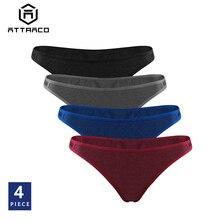 Tanga Thong Women's Panties Underwear Hipster Transparent 4-Packs Breathable Cotton Ladies