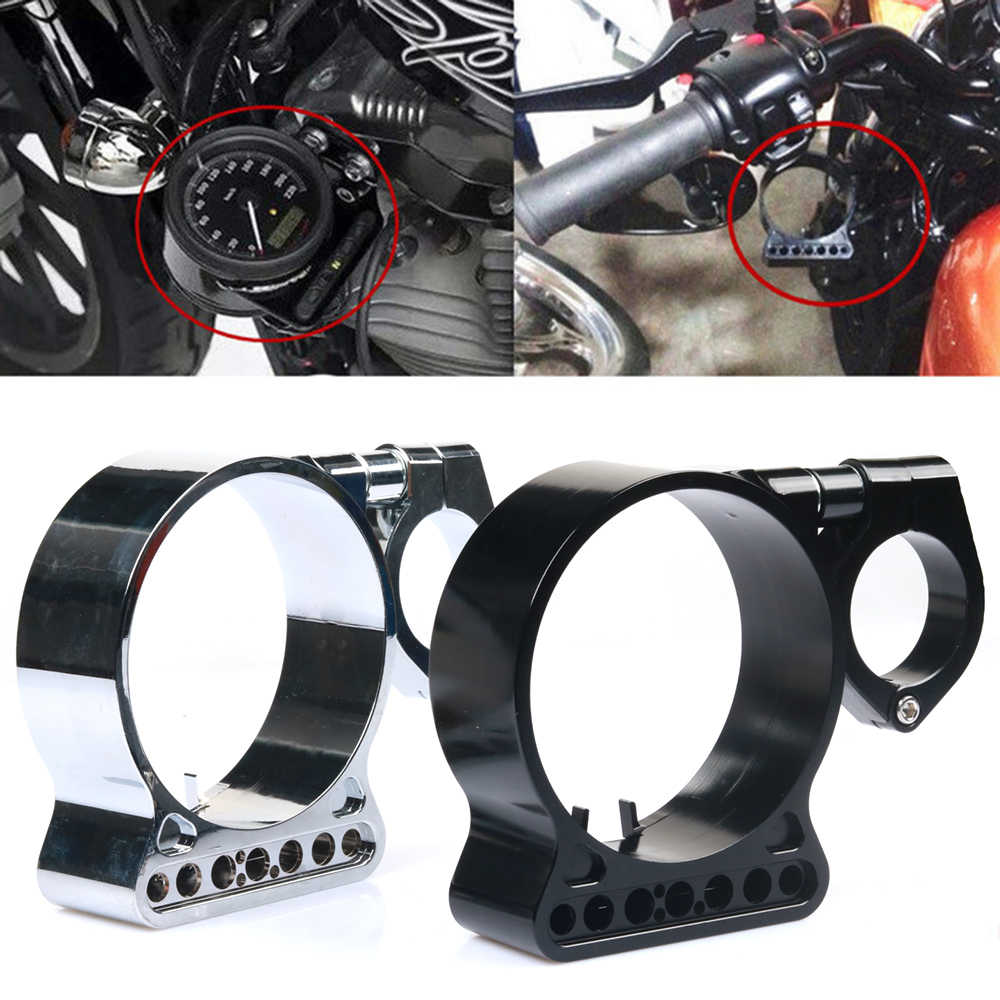 Speedometer Side Mount Relocation Bracket Clamp 39mm Black Aluminum for Sportster Iron 883 XL1200 XL883 1993-2015 Dyna 1993-2005