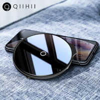 QIIHII Qi Wireless Charger For iphone 8 Plus X 5W Wireless Fast Charger For Xiaomi Huawei Mobile Phone Charger For Samsung S10