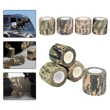 5CM * 4 5M przylepny bandaż elastyczny pierwszej pomocy opieki zdrowotnej leczenie taśma z gazy w nagłych wypadkach taśma mięśniowa pierwszej pomocy narzędzie cheap Camouflage tape CN (pochodzenie) Natural Latex Non-woven 5CM*4 5M Camouflage Stealth Tape Drop shipping Wholesale