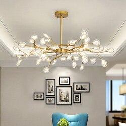 Postmodernistyczny żyrandol LED gałąź liście drzewa żyrandol czarny różany złoty mid century home deco żyrandol ze szklanymi bombkami w Żyrandole od Lampy i oświetlenie na
