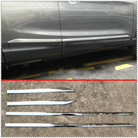KOUVI Chrome Door Body Molding For Nissan Qashqai J11 2014 2018 19 Rogue Sport 2017 2018 ABS Accessories Side Strips Trim Cover