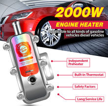 2000W Car Engine Coolant Heater Preheater Not s Eberspacher Motor Heating Preheating Air Parking Heater 1.8-2.5L(China)