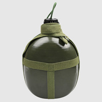 07 dzban studenci trening wojskowy czajnik aluminiowy wewnętrzny noszenie zieleń wojskowa czajnik Outdoor Sports deng shan hu przenośna woda w Jajowary od AGD na