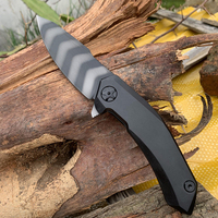 ZT 0095 Quick opening bearing folding knife S90V tiger pattern blade titanium alloy handle EDC Self defense tool
