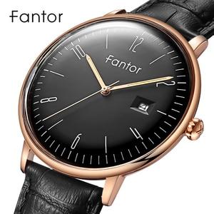 Image 5 - Fantor新ブランドビジネスメンズ腕時計高級ファッションドレスクォーツ腕時計メンズレザーストラップ防水レロジオmasculino