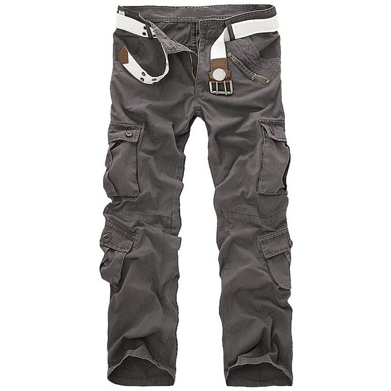Men Cargo Pants High Quality Casual Loose Multi Pocket Camouflage Military Pants Men's street Joggers Plus Size 44 Long Trousers 2