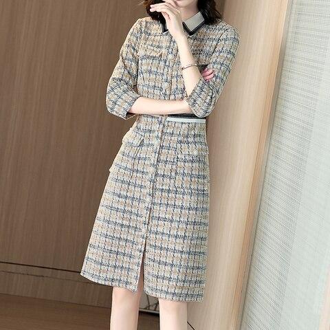 Elegant women Woolen Tweed Dress Party Slim Bodycon Sexy Skinny Autumn Spring Dresses Vestidos temperament Multan