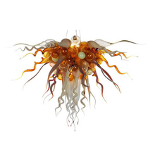 Creative Colorful Blown Glass Chandelier Led Lustre Chandelier Lighting Lamparas for Dining Room цена в Москве и Питере