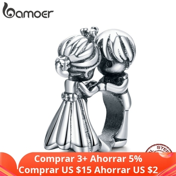 bamoer wedding Metal Beads for Women Jewelry Making 925 Sterling Silver love Charm SCC1565 - discount item  46% OFF Fine Jewelry