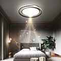 Современные светодиодный ные люстры для спальни, столовой, кухни, минималистичные круглые черные потолочные светильники, домашние креатив...