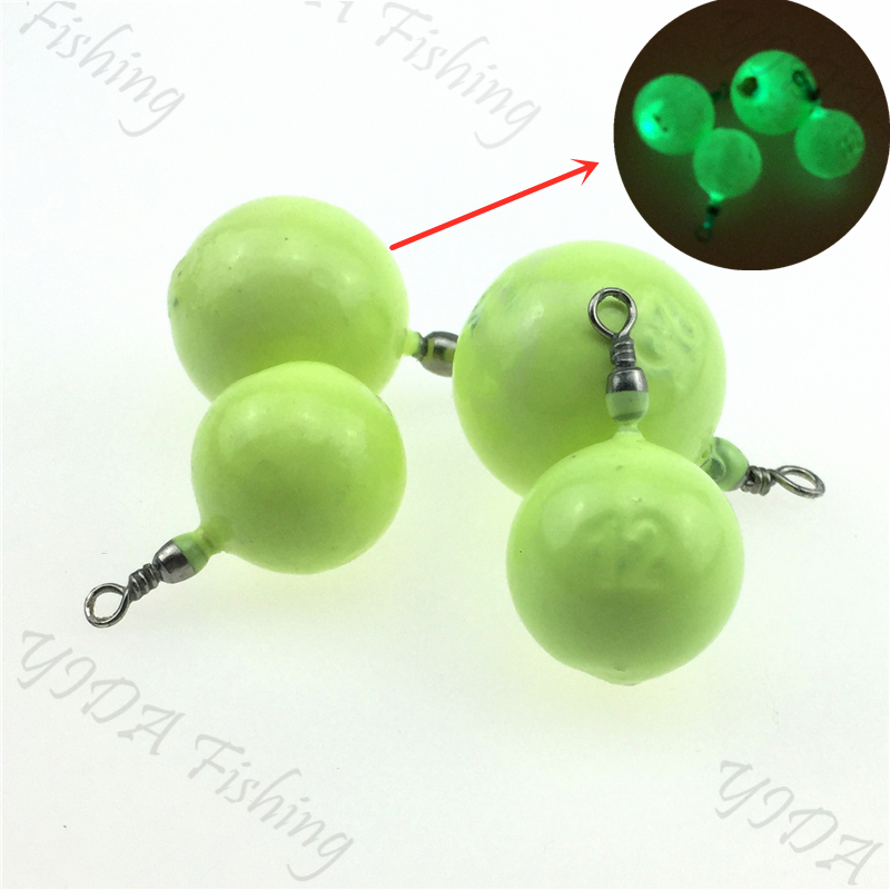 NEW! Luminous Round Lead Weights Fishing Lead Sinkers Fishing Accessories Fluorescent Lead 10g/15g/20g/30g/40g/50g/60g/80g/100g