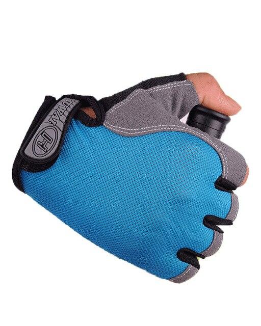 Luvas de ciclismo luvas de bicicleta anti derrapante choque respirável metade do dedo curto luvas esportivas acessórios para homens 6