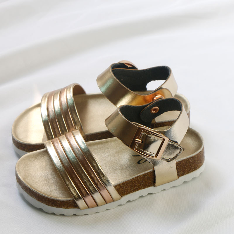 Girls Sandals Shoes For Children Gladiator Glitter PU Leather Beach School Shoes 2020 New Roman Sandals Girl