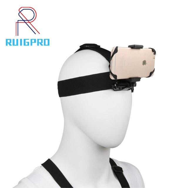 Support de bandeau extérieur pour téléphone portable au harnais sangle de ceinture support de trépied à la place GOPRO xiaoyi caméra iPhone x