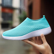Large Size Summer Casual Running Sneaker Shoes Women Breathable Mesh Platform Sneakers Slip On With Soft Comfortable Bottom Flat cresfimix chaussures pour femmes women cute spring slip on flat shoes with rubber bottom lady casual comfortable street shoes