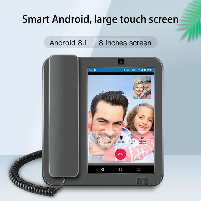 Kaer الذكية 4G اللاسلكية 8 بوصة شاشة كبيرة الهاتف أندرويد 8.1 اللغة الدولية والتطبيقات التحكم عن بعد هاتف ذكي