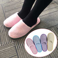 1Pair Comfortable Coral Velvet Slippers Casual Spa Adults Unisex Home Guest Anti Slip Soft Travel Hotel Disposable Gift