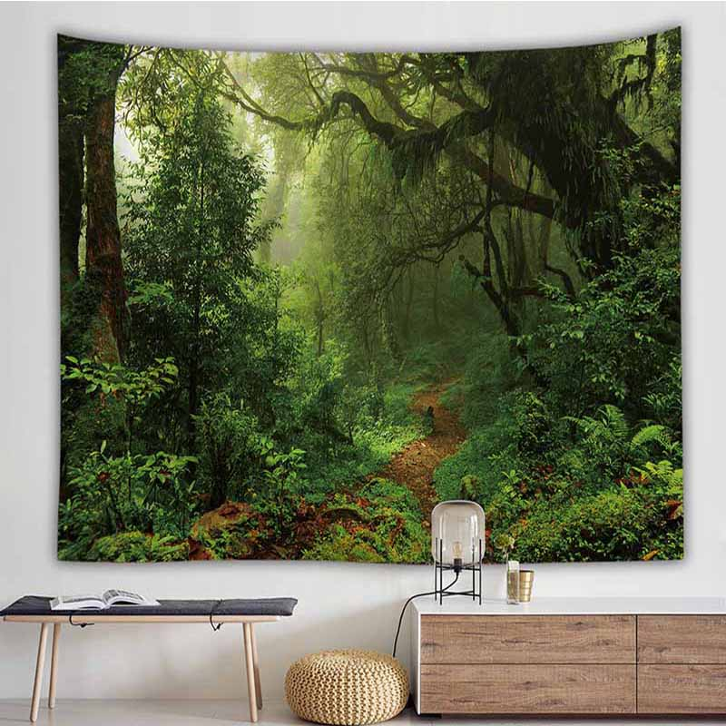 Big Wall Hanging Art Dream Forest Series Tapestry Painting Wall Hanging Decor US
