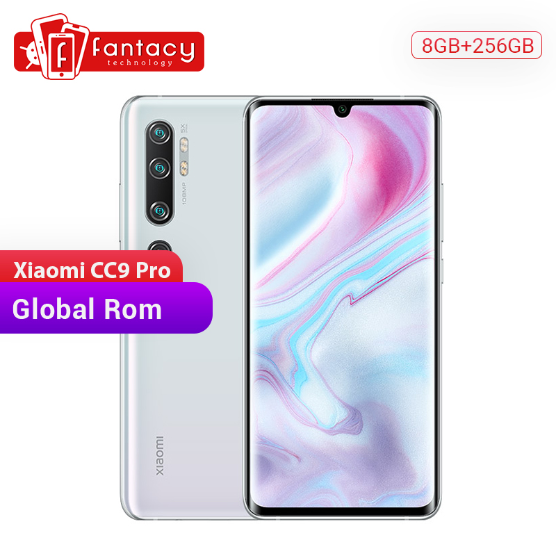 New Global Rom Xiaomi Mi CC9 Pro 8GB 256GB Snapdragon 730G Smartphone 108MP Penta 5 Cameras 6.47''AMOLED Screen 5260mAh Battery