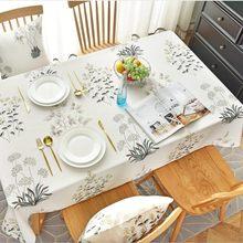 Toalha de mesa impressão cor estilo europeu casa festa aniversário toalha de mesa capa retangular à prova doilágua oilproof pano