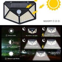 🔥100 Led Solar Light Outdoor Solar Wall Lamp LED Bulb IP65 PIR Motion Sensor Lampara Solar Lighting Garden Decoration Light 20W