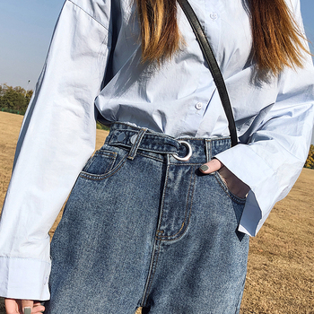 Blue Pantalones Jeans De Mujer Cintura   2