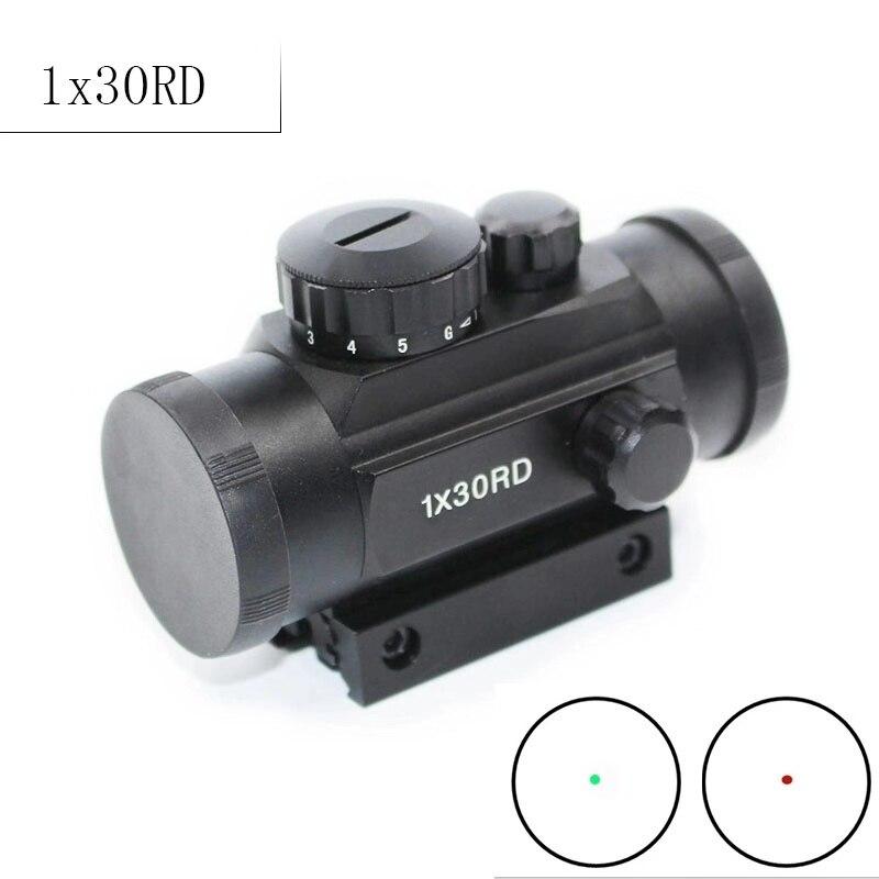 DREAMY ANT 1X30 Rot Grün Dot Zielfernrohr Holographische Optics Anblick Jagd Umfang 11mm 20mm Schwalbenschwanz Schiene für Gewehr Air Gun