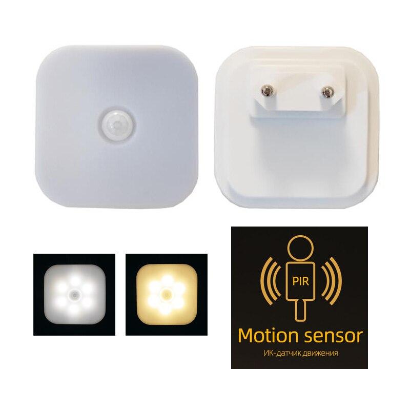 Ночник с евровилкой, умный светильник с датчиком движения, для дома, лестницы, чулана, коридора, туалета, прикроватная лампа для коридора, сп...