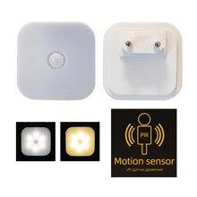 Luz da noite com plugue da ue inteligente sensor de movimento lâmpada casa escada do armário corredor wc lâmpada cabeceira para corredor caminho quarto a10