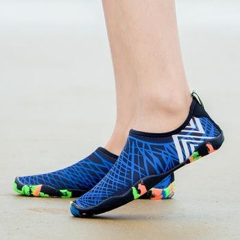 Trampki mężczyźni kobiety Barefoot plaża buty do wody miłośników odkryty wędkowanie pływanie rowerów szybkoschnące buty do wody Zapatos De Mujer tanie i dobre opinie LUCYLEYTE CN (pochodzenie) WOMEN Pasuje prawda na wymiar weź swój normalny rozmiar Spring2019 Slip-on Zaawansowane Oddychające