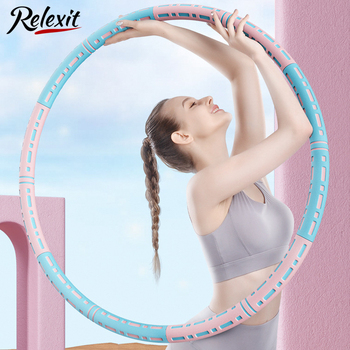 Detachable Hola Hoop Sport Hoop Weighed Adjustable Waist Trainer Ring Fitness Workout Equipment Gym Home Fitness Circle 1