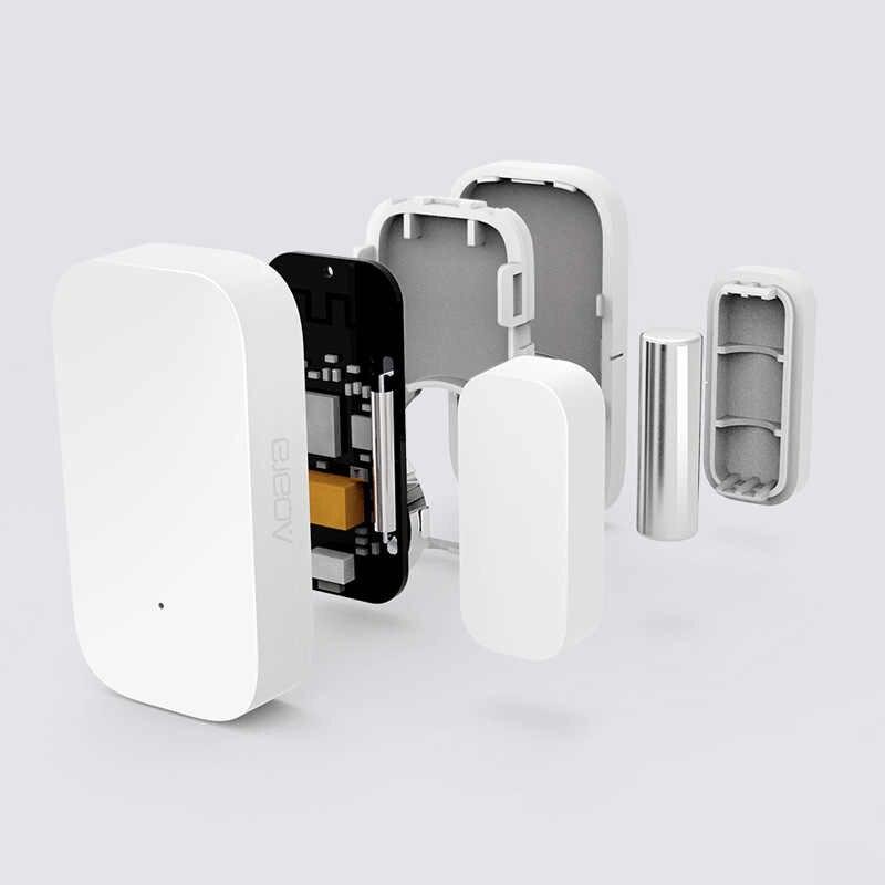 Aqara kapı pencere sensörü Zigbee kablosuz bağlantı akıllı mi ni kapı sensörü ile çalışmak ağ geçidi hub için homekit mi ev app kontrolü