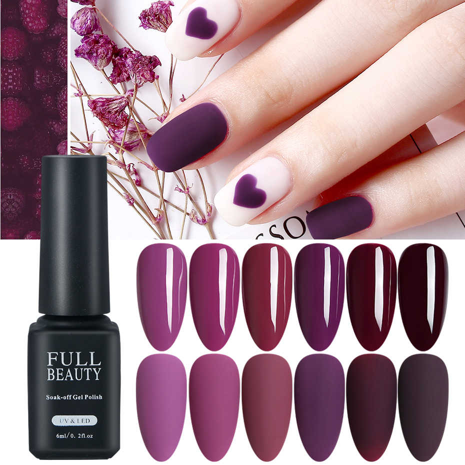 Uv Gel Cat Kuku Plum Purple Uv Gel Rendam Off Pernis Warna Musim Gugur Musim Dingin Kuku Gel Polandia Lacquer Semi Permanen TRPL001-006