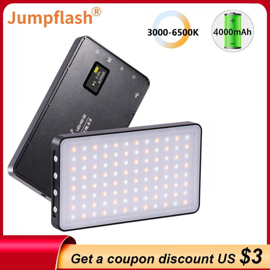 Jumpflash 6500K Mini LED Video Fill Light With 96PCS LEDs Cold Shoe Mount For Camera Phone Selfie Vlog Photography Lighting RGB