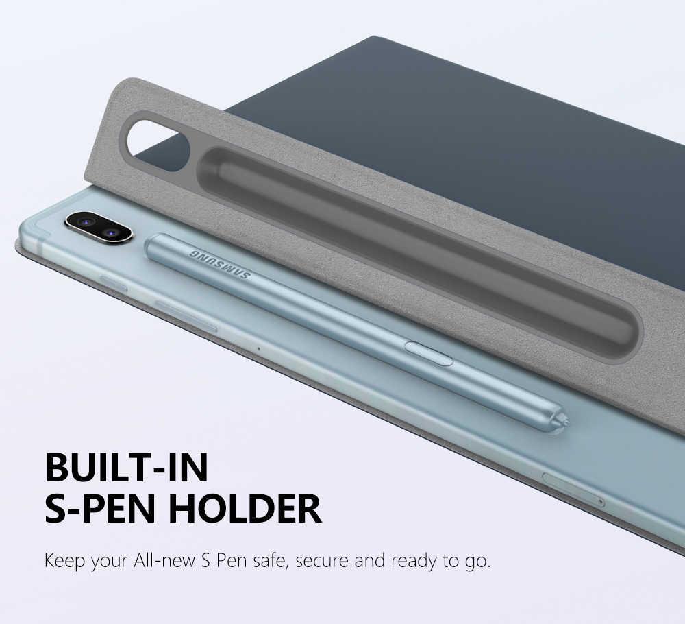 Étui Folio élégant pour Samsung Galaxy Tab S6 10.5 2019, couverture de support de coque intelligente légère mince, Adsorption magnétique forte pour l'onglet