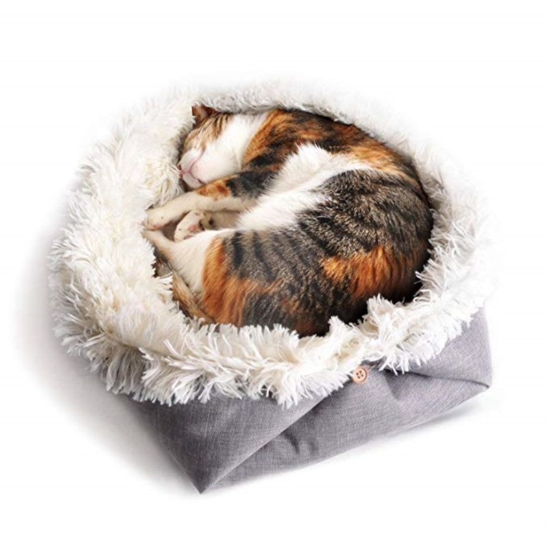 New Soft Cat Bed Rest Dog Blanket Winter Foldable Double use of pet bed matCushion Hondenmand Plush Soft Warm Sleep Mat 2