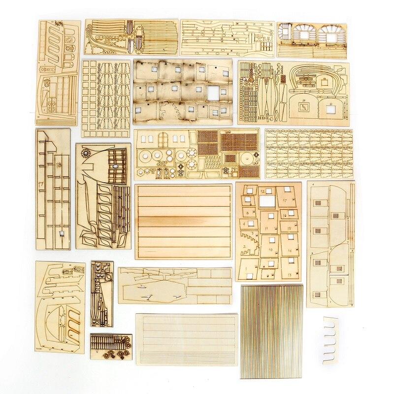 1:50 DIY Handwerk Holz Boot Modell Kit für Schwarz Perle Segeln Schiff für s der Karibik Montage Boot modell kit - 4