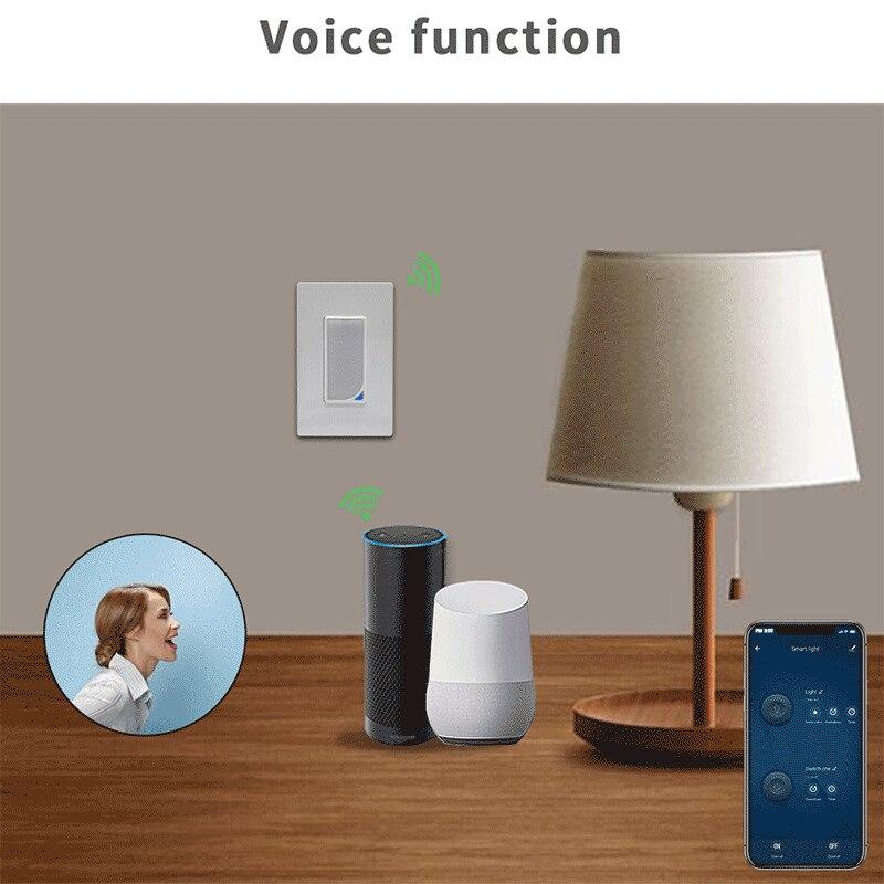 Régulation US WiFi interrupteur intelligent applique murale télécommande commande vocale Fader pratique de l'application Mobile - 6