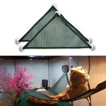 2 pacote barbudo dragão rede lagarto espreguiçadeira escada pendurado acessórios de cama, réptil habitat terrarium decoração para ser