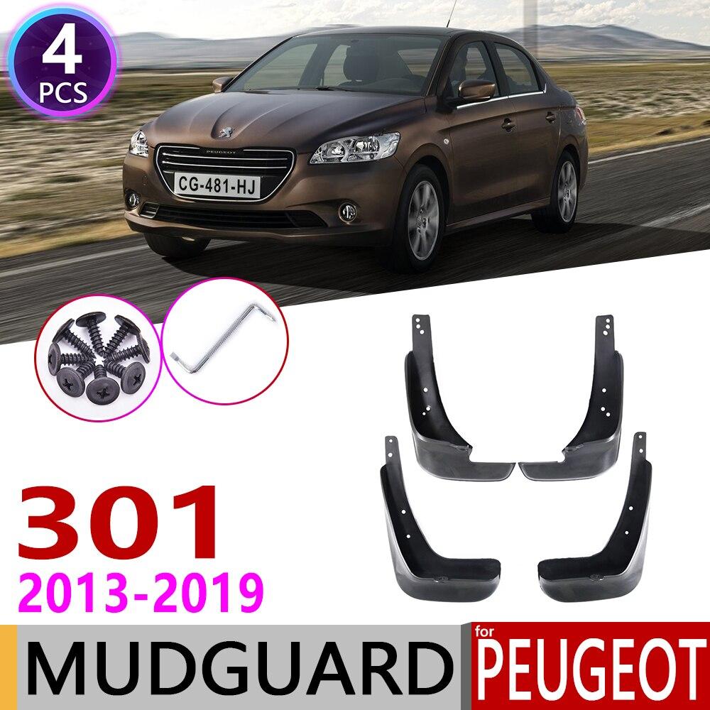 Front Rear Mudflaps For Peugeot 301 2013~2019 Fender Mud Guard Flap Splash Flaps Mudguards Accessories 2014 2015 2016 2017 2018