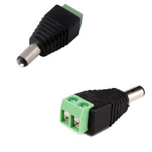 Image 4 - Gran venta 100 Uds DC conector CCTV Cable adaptador de enchufe macho UTP Cámara conector Balun de vídeo 5,5x2,1mm ¡envío gratis!