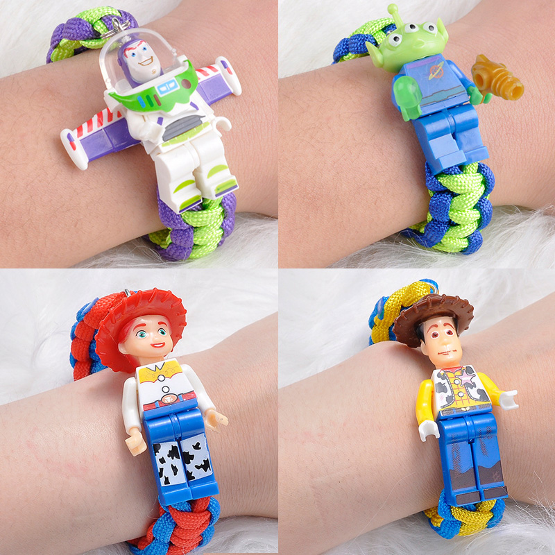 Hot Toy Story 4 Action Figure Buzz Lightyear Bracelet Woody Jessie <font><b>Alien</b></font> Toystory Toys image