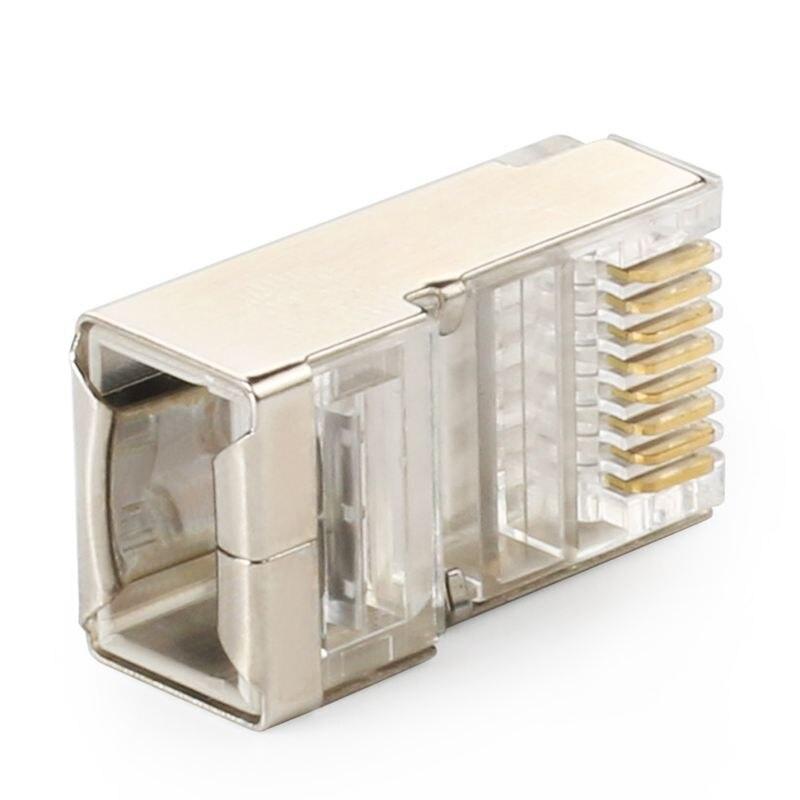 Protegido conector rj45 cat5e cat6 crimp ethernet