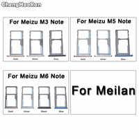 ChengHaoRan Para Meizu M3 M5 M6 Nota Cartão SIM Tray Titular Slot Para Cartão Micro SD Adaptador de Substituição Para Meilan 3 5 6