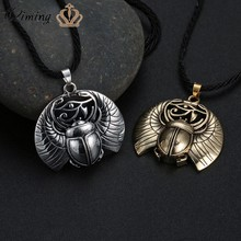 QIMING gothique scarabée collier mauvais yeux oeil d'horus égyptien insecte scarabée Wadjet ancienne amulette Protection Viking bijoux(Hong Kong,China)