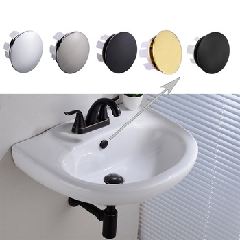 Solid Brass Sink Overflow Cap Round Hole Cover for Bathroom Basin Chrome/Brushed Nickle/ORB/Brushed Gold/Matte Black Finished - discount item  5% OFF Bathroom Fixture
