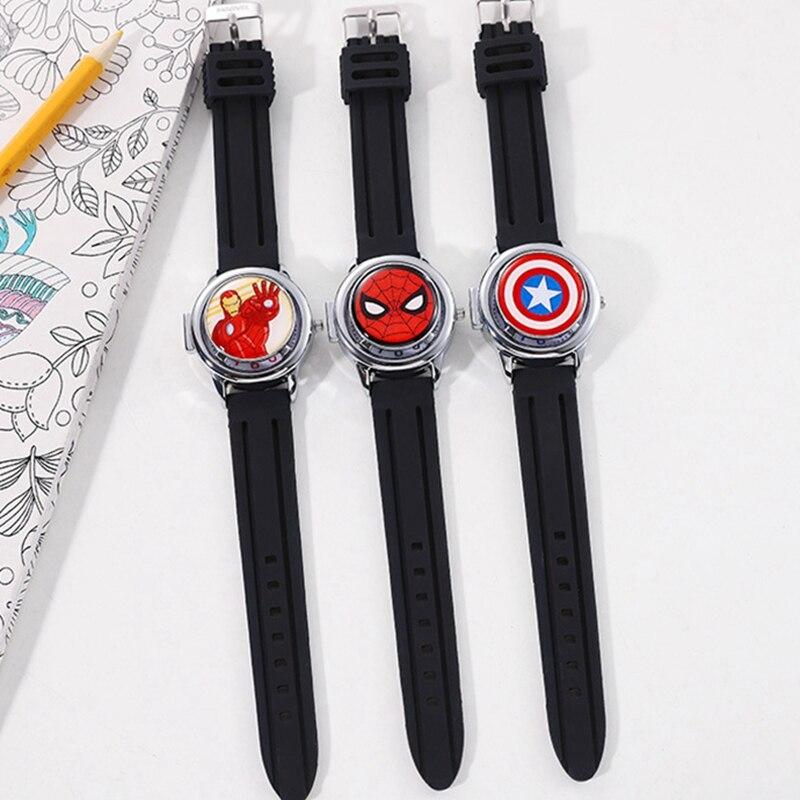 Большая распродажа Человек-Паук мальчиков часы молодых мужчин прохладный мода спортивные часы Наручные часы студент детские время ребенок часы Водонепроницаемые Марвел