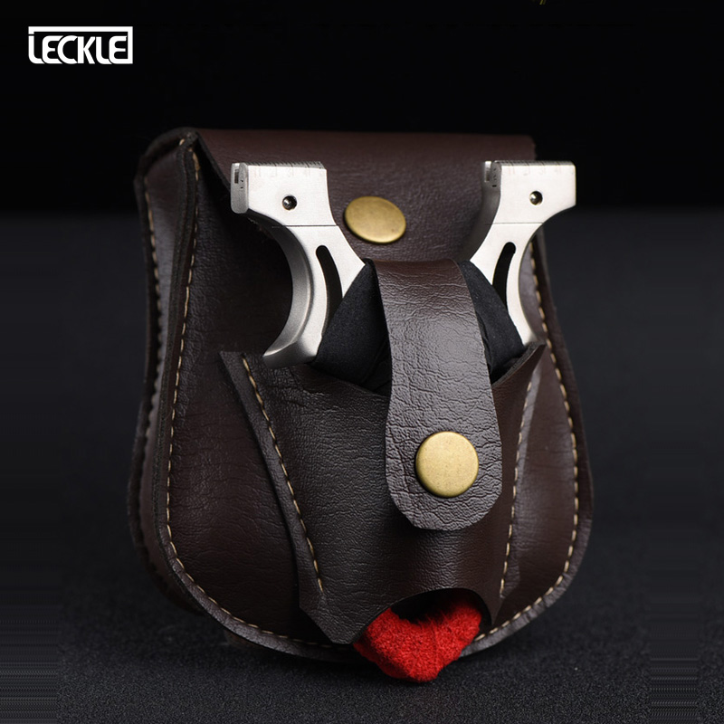Outdoor Sports Steel Ball Package PU Slingshot Bag Bow Pocket With Magnetic Hanging On The Belt Convenient For Hunting Shooting
