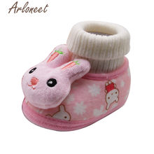 ARLONEET newborn shoes girl baby first walker winter cartoon bunny boots anti slip Sneakers 2019 newborn shoes boy plush boots(China)
